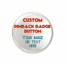 Custom Button Badge Pin 44mm Personalised Birthday Wedding Hen Stag Party Design