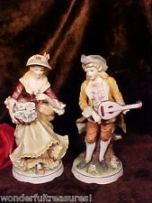 FAB Bisque Porcelain Victorian Couple Gentleman & Lady Figurine Classic Gallery