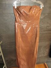 Jean Paul Gaultier Femme copper evening dress size US 10 I 44 made in Italy
