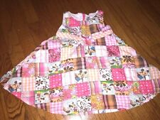 DISNEY STORE Exclusive MICKEY MOUSE & MINNIE @ Barbeque Plaid Dress Girls Sz 24M