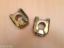 "MOTORCYCLE BRASS HANDLEBAR RISERS.UNIVERSAL. 22MM - 7/8"". PAIR."