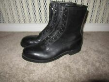 VTG Addison Combat Deck Boots 9 Black Leather USAF Military Motorcycle Steel toe