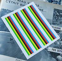 x4 World Champion Rainbow Stripes Quality Laminated Decals with White Edges