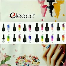New Nail Art Set 5x Eleacc UV&LED Nail Polish Gel Thermo Color Coat soak-off