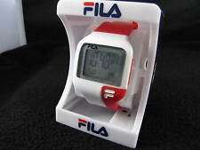 New Old Stock (NOS) Vintage FILA Digital Electronic Red White NEW BATTERY Watch