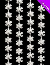 2.7m Plastic Mini Silver Snowflake Garland - Great For Christmas Trees (DP218)
