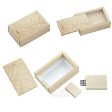 Creative Slide-out Wooden Box 16GB USB 2.0 Memory Stick Flash Drive Flash Disk