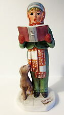 """1973 NORMAN ROCKWELL """"THE CAROLER"""" FIGURINE BY DAVE GROSSMAN SATURDAY EVE POST"""