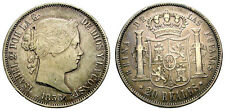 ISABEL II. 20 REALES. 1856. MADRID.