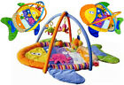 Musical Unisex Fish shape baby play mat activity gym with different fabrics