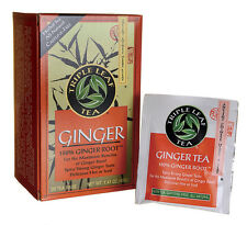 100% GINGER ROOT HERBAL STOMACH DIGESTION INFLAMMATION STRONG RELIEF 20 TEA BAGS