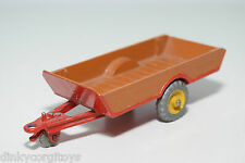 DINKY TOYS 320 HALESOWEN TRAILER BROWN WITH RED NEAR MINT REPAINT