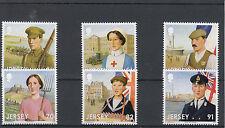 Jersey 2014 neuf sans charnière wwi grande guerre pt je participation 6v set croix rouge timbres