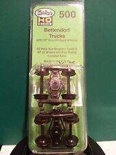Kadee #500 HO Scale Bettendorf Trucks with 33in Smooth Back Wheels