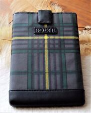 Bodhi Plaid Leather Lined Kindle Nook Sony eReader Sleeve Jacket Pouch