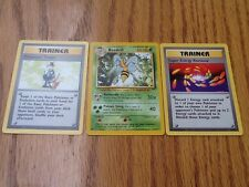 3 Pokemon Rare Star Cards Base Basic Set BEEDRILL TRADER SUPER ENERGY REMOVAL