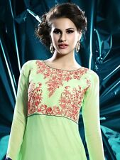 Tanusha Green Designer Party Wear Georgette Kurti with Embroidery work