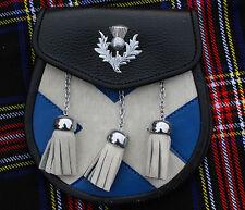 Scottish Kilt Sporrans Saltire/Kilt Sporrans Thistle Crest Badge/Mens Sporrans