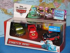 DISNEY WORLD OF CARS STREETS OF JAPAN TOKYO MATER 3 PACK Y7313 BRAND NEW & RARE