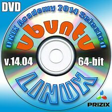 Ubuntu 14.04, 64-bit Complete Installation DVD+Linux Library CD with 52 books