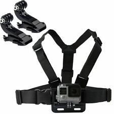 Sangle de poitrine harnais support réglable GoPro HD Hero 1 2 3 3+ 4 camera & 2x j hook