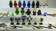 Lego Ninjago Lot Minifigures Weapons Accessories