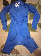 Blue Cycling Skinsuit / Skin Suit - Medium - Long Sleeved