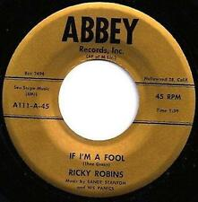 RICKY ROBINS If I'm A Fool 45 on ABBEY Rockabilly/Teen LISTEN
