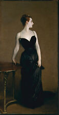 John Singer Sargent, Portrait of Madame X, dress, antique ART,1883 20x10 Canvas