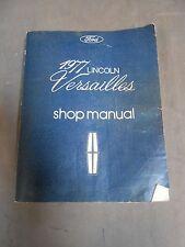 Vintage Original 1977 Lincoln Versailles Shop Manual