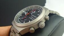 NIB PORSCHE DESIGN 6625' HERITAGE AUTOMATIC TITANIUM CHRONOGRAPH WATCH