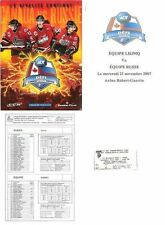CANADA - RUSSIA ADT DEFI CHALLENGE 2007 QUEBEC OFF PROGRAM + TICKET STUB + ADS