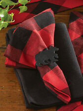 Classic Red and Black Buffalo Check Napkins by Park Designs, 18x18, Set of Four