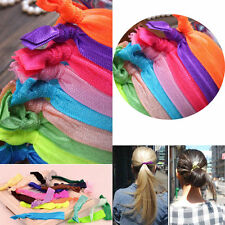 30Pcs Girl Elastic Hair Ties Rubber Band Knotted Hairband Ponytail Holder ly