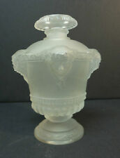 "NICE ANTIQUE LALIQUE FROSTED CRYSTAL ""BOUQUET DE FAUNES"" PERFUME BOTTLE c. 1925"
