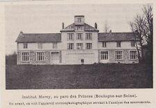 1904  --  INSTITUT MARNY  AU PARC DES PRINCES   BOULOGNE SUR SEINE   3H557