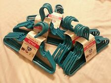 Lot of 50 Kids Clothes Hangers Plastic Infant Toddler Turquoise