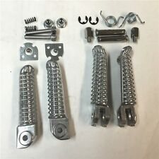 Polish Front Rear Foot Pegs Footrest Kit Fit For Yamaha YZF R1 98-11 YZF R6 99-1
