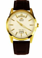 Orient Union Automatic FEV0S001WH White Dial Brown Leather Band Men's Watch