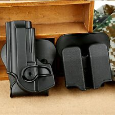 Compact Combo Set Pistol Holster Double Paddle Magazine Pouch for Beretta 92 96