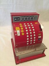 VINTAGE MID CENTURY TIN TOY CASH REGISTER