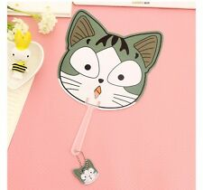 Chi's Sweet Home Cat Cute Face Cool Hand Fans Cosplay Prop Collection Gift 1pcs
