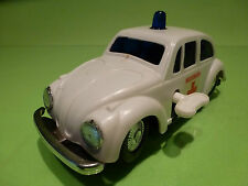 HONG KONG 7601 VW VOLKSWAGEN KAFER - AMBULANCE L16.0 WHITE VERY GOOD - WIND UP