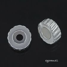 Sterling Silver Removable Rubber European Bracelet Stopper Charm Bead 1PC #97404