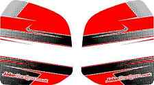 CUSTOM FUEL TANK STICKER KIT - RED - KARTING