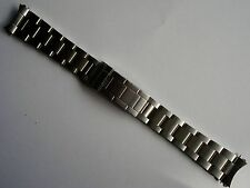 20MM FLIPLOCK STEEL OYSTER BAND BRACELET FOR ROLEX MEN EXPLORER SUBMARINER WATCH