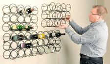 Wrought Iron 12 Bottle Wall Mounted Simplistic Design Wine Rack