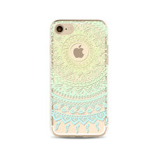 Mandala Pattern Rubber Soft TPU Silicone Clear Case Cover For iPhone 6s 7 7 Plus