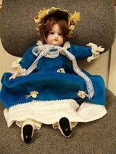 BEAUTIFUL ANTIQUE GERMANY PORCELAIN DOLL COMPOSITION BODY SLEEPY EYES