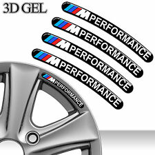 4 BMW PERFORMANCE FELGENRANDAUFKLEBER 3D GEL AUFKLEBER AUTO CAR RIM STICKERS C20